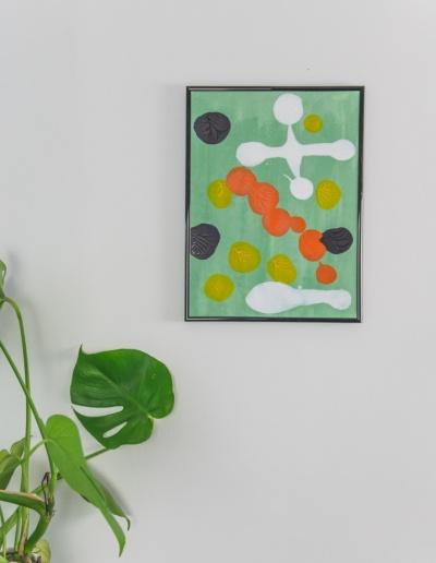 Acryl-Bild: Auf den Punkt_grün