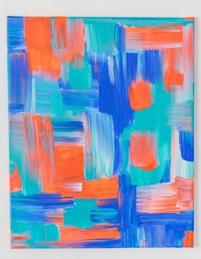 Acryl-Leinwandbild: Leuchtend_orange