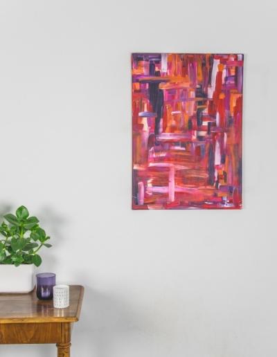 Acryl-Leinwandbild: Roter Farbstich