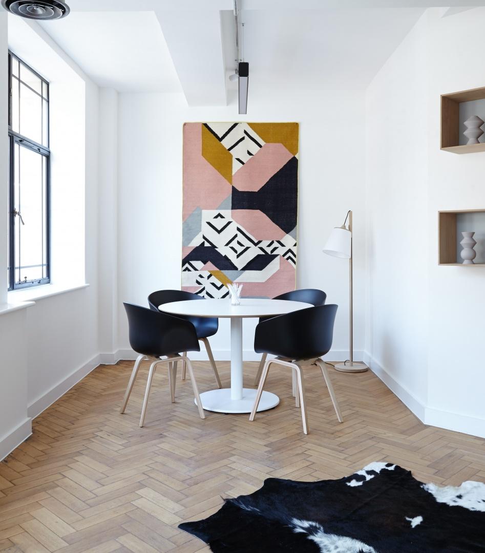 Abstraktes großes Acryl-Leinwandbild, big wall art in Esszimmer
