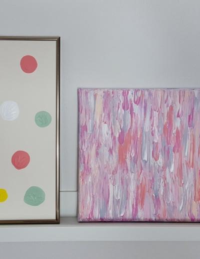 Leinwandbilder: Fließend Rosé / Tanz der Punkte