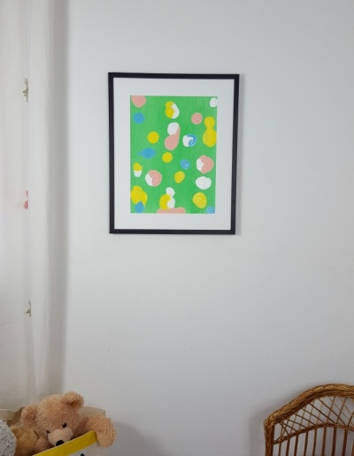 Acryl-Wandbild: Auf den Punkt_hellgrün