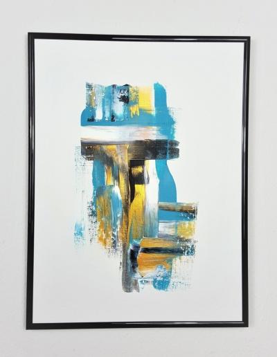 Acryl-Wandbild: Minimalistisch mit Gold