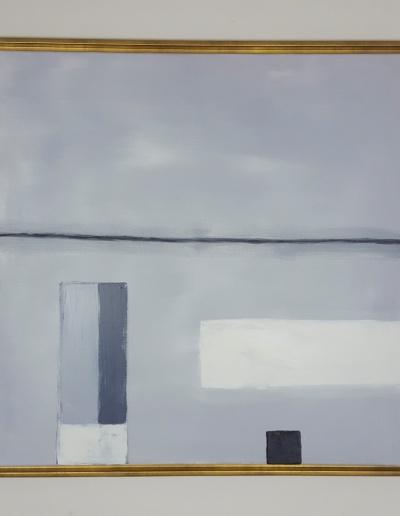Acryl-Leinwandbild minimalistisch Grau