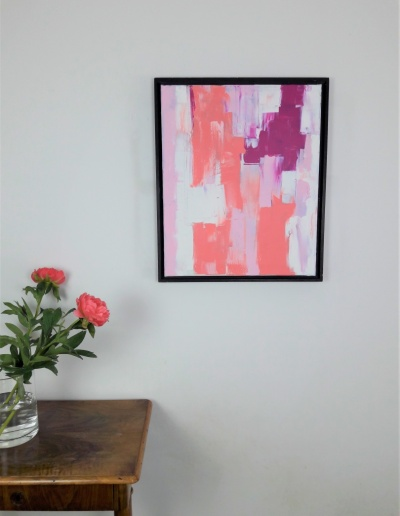 Acryl-Leinwandbild: Pink Flowers