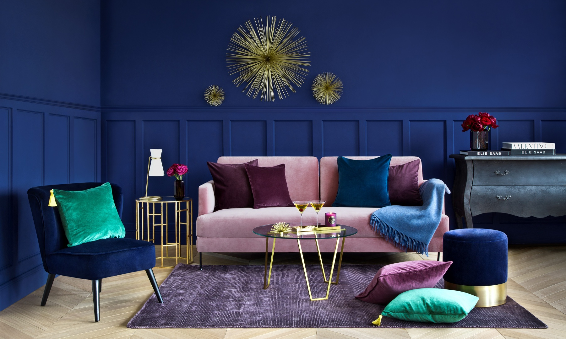 voll im Trend, Stühle, Sessel, Hocker, Sofa aus Samt