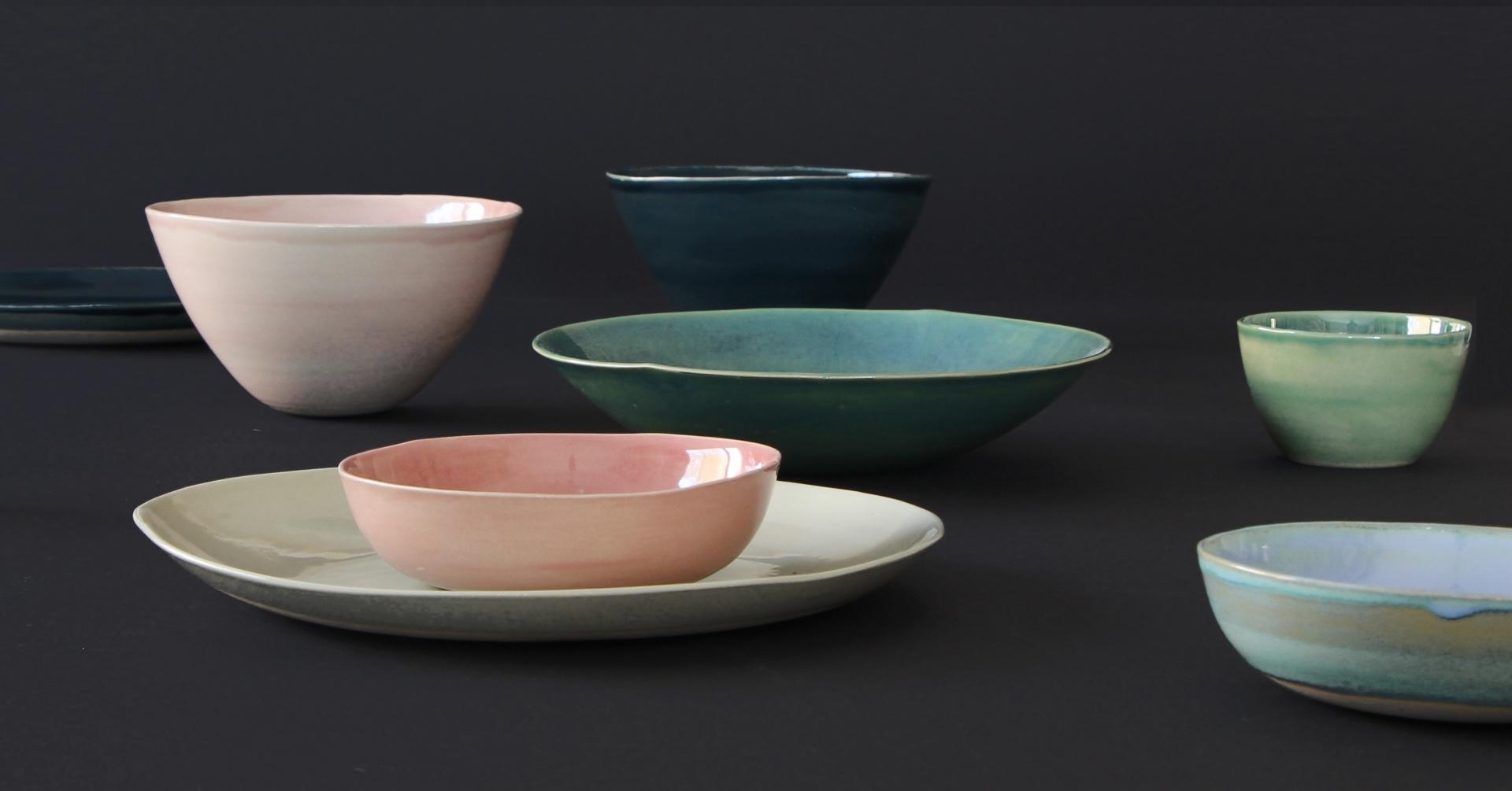 Wunderschönes Keramik-Geschirr in Handarbeit hergestellt