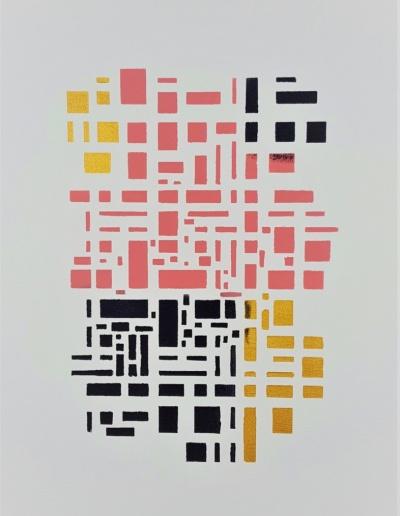 Wandbild Kästchen-Motiv