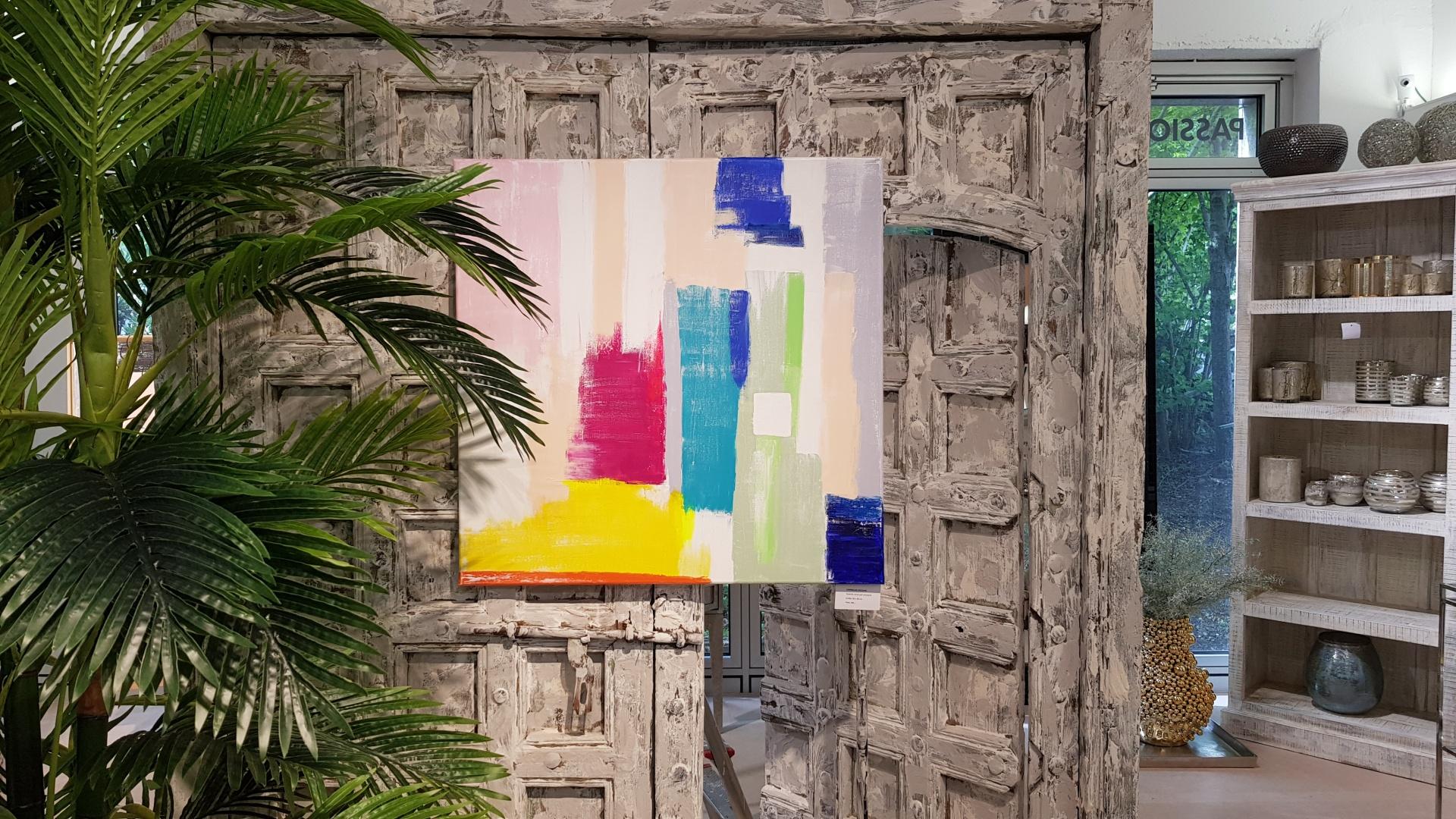 "Buntes Leinwandbild ""Caribbean Colours"""